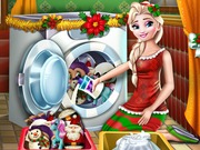 Elsa Washing Christmas …