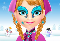 Frozen Anna Face Painti…