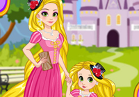 Rapunzel And Daughter Matching Dress