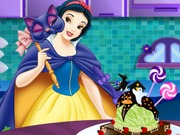 Snow White Halloween Ice Cream Cake